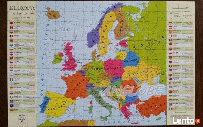 PUZZLE EDUKACYJNE Mapa Europy - NOWOŚĆ polski produkt