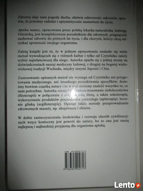 Ksiązka - Apteka Natury - Poradnik Zdrowia - J. Górnicka