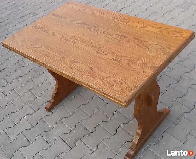 Stół dąb, rozkładany max 170x70, używany