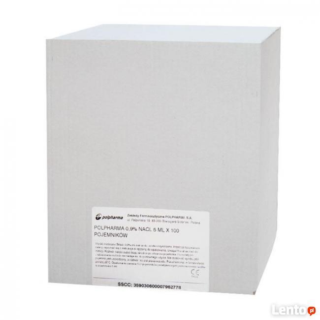 Natrium Chloratum, Polpharma 0,9%, 100 sztuk po 5ml
