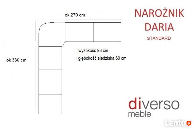 Narożnik DARIA 330/270 **PRODUCENT**wyposażenie firm, lokali