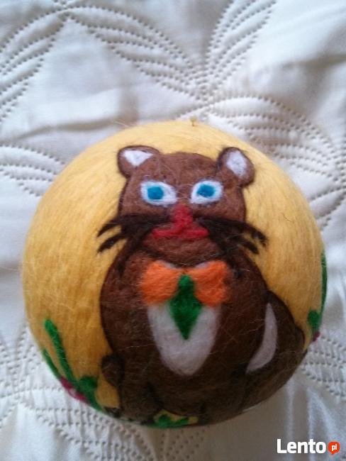 BOMBKI z filcu ręcznie wykonane - krecik, bałwanek, kot