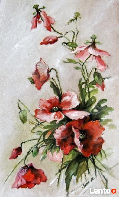 Obraz olejny - Kwiaty - MAKI.