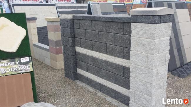 Ogrodzenia pustaki mur bloczki cj blok joniec libet tab bruk