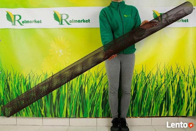 Brązowa siatka ochronna na rynny przeciw liściom2m Rolmarket