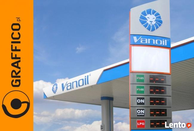 Pyon cenowy, reklamy dla stacji paliw, reklama świetlna