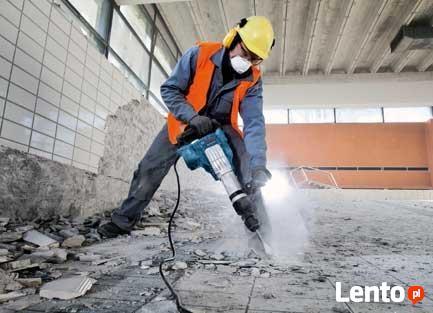Skuwanie Glazury płytek tynku betonu Wyburzanie ścian, Kuci