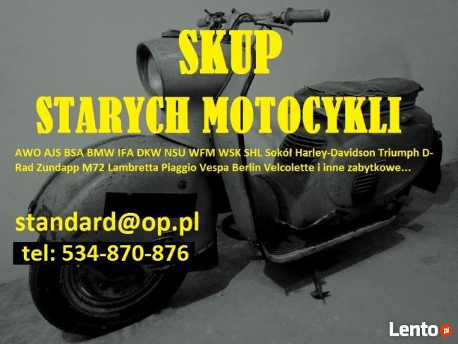 Skup zabytkowych motocykli SHL WSK WFM JUNAK AWO IFA BMW DKW