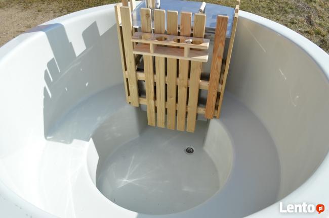 Gorąca beczka, balia kąpielowa, basen, spa, piec wewnętrzny