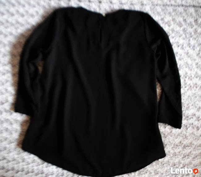 Czarna bluzka metalowe zdobienia 36 H&M