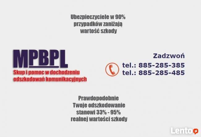 Skup i pomoc w dochodzeniu odszkodowań komunikacyjnych OC/AC