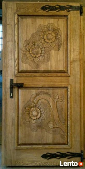 Drzwi drewniane - stylowe, rustykalne, rzeźbione