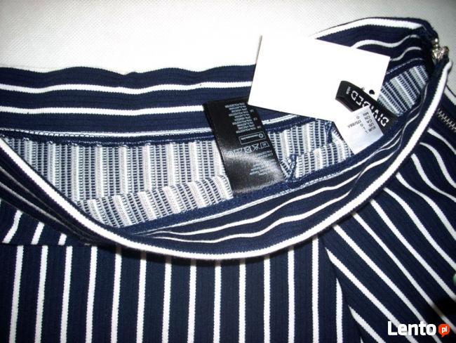H&M spódnica NOWA Granat Jersey Paseczki HIT 40 L 42 XL