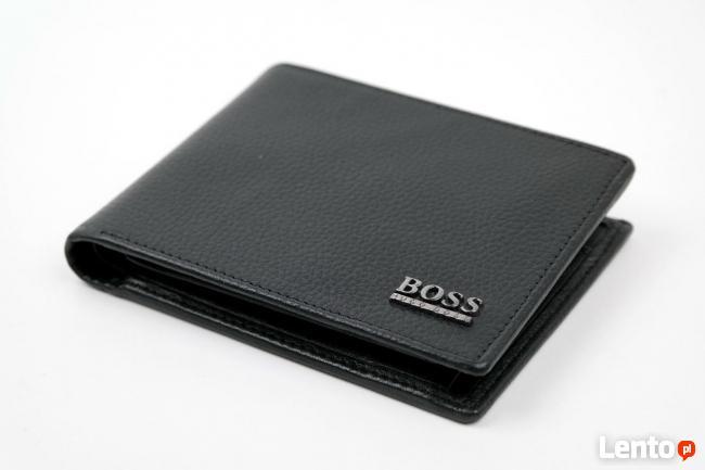 ebef70b1ea419 HUGO BOSS portfel męski model monad skóra naturalna czarny Ostrów ...