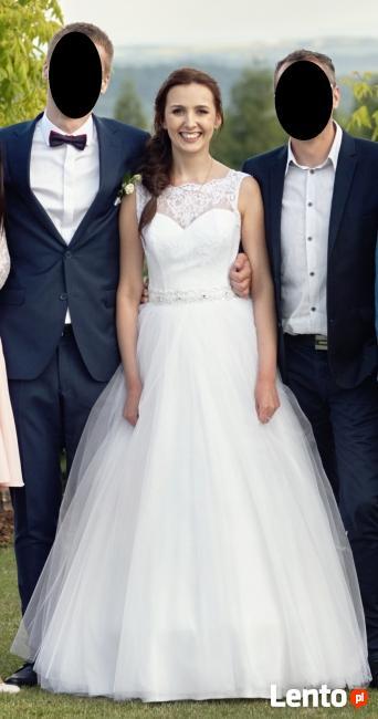 Suknia ślubna Koronkatiul Rozmiar 3638 Buty Gratis Dębica