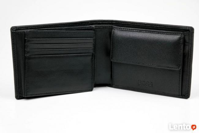 af45ee0e05d4f Preferowane HUGO BOSS Arezzo portfel męski skóra czerń pakowny  NA-05