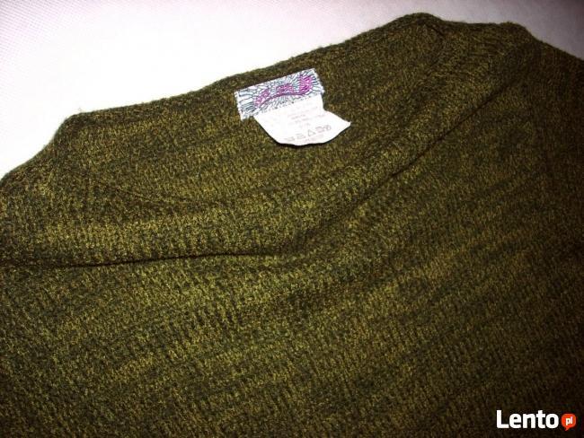 Lost Girl Sweter łódka Frędzle Khaki j Nowy 36 38