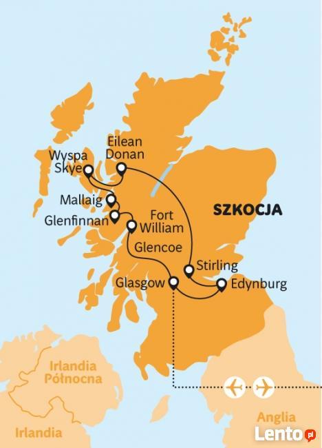 Geotour wycieczka Wzgórza walecznych serc - Szkocja
