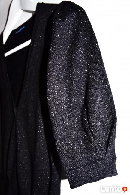 Czarny błyszczący sweterek 34/36 Oasis