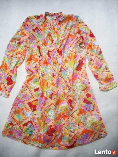LEKKA Tunika Sukienka Koszula STÓJKA 42 44 XL XXL