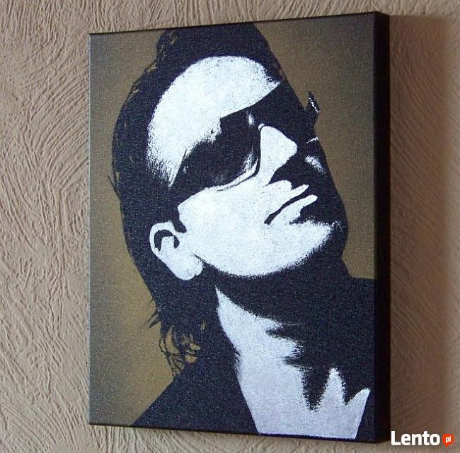 U2 Bono Ręcznie rzeźbiony obraz w blasze ... Grawer