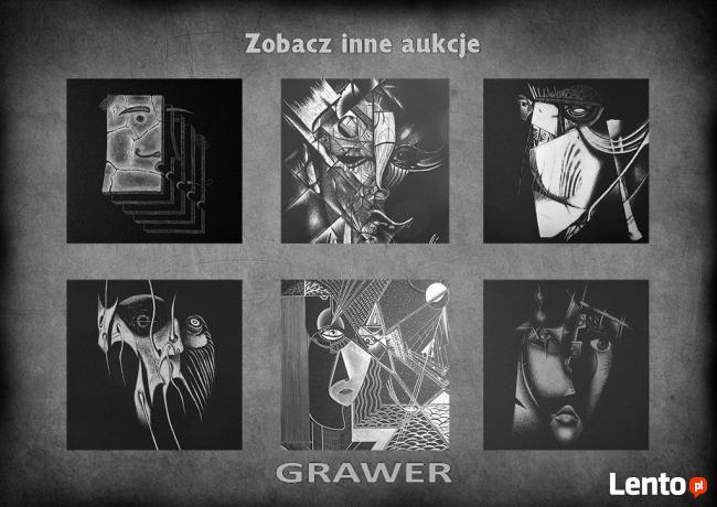 Inspiracja Z.Beksińskim Obraz ręcznie rzeźbiony ... Grawerka