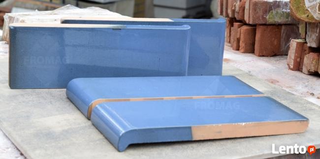 Parapet zew. klinkier ceramiczny niebieski ZABYTEK