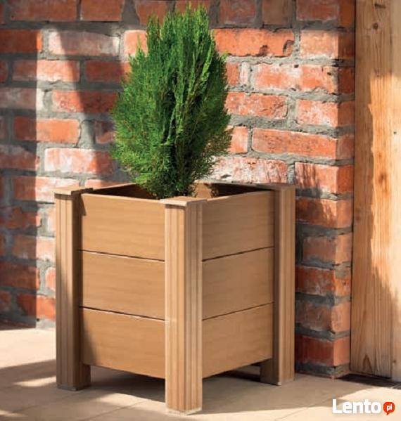 donice z kompozytu drewna WPC na taras i do ogrodu
