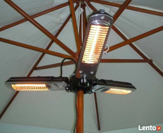 Lampa grzewcza do parasoli ogrodowych składana Stalgast