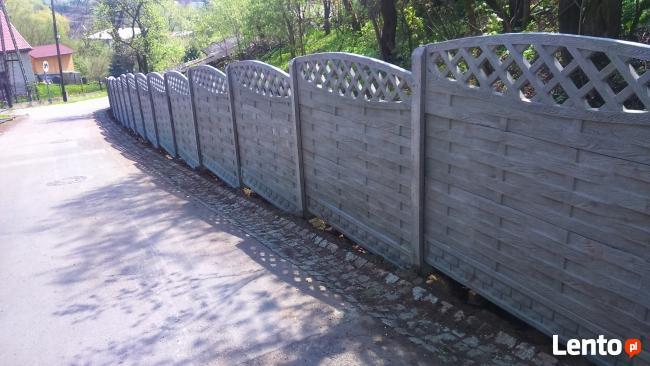 Ogrodzenia betonowe, panelowe, z siatki plecionej