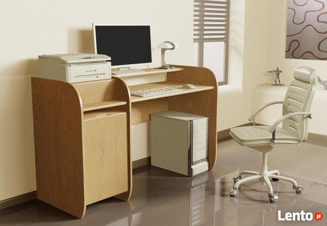 Biurko Detalion z miejscem na drukarkę
