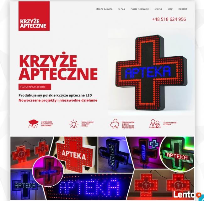 Krzyż Apteczny LED - zewnętrzna reklama diodowa dla apteki