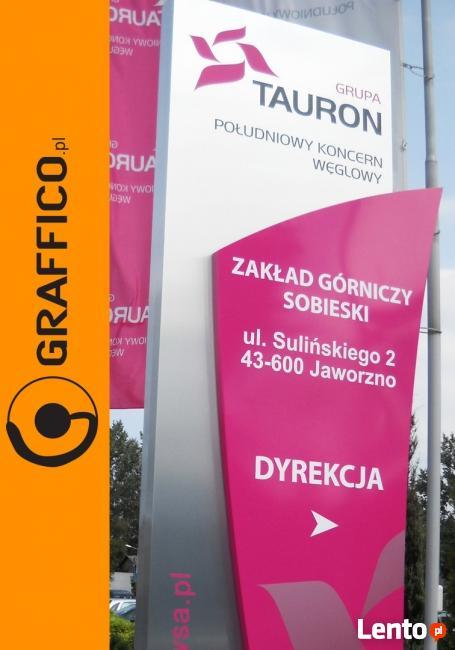 Pylony reklamowe, reklamy świetlne_Graffico Producent Reklam