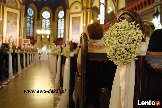 Dekoracja Kościoła Na ślub Toruń