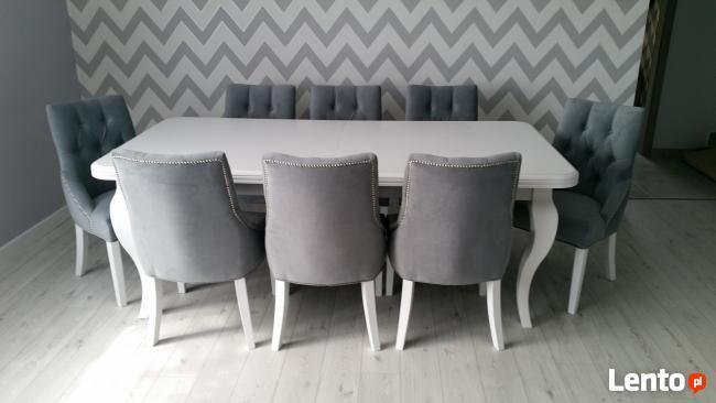 Groovy Krzesło tapicerowane pikowane z kołatką i pinezkami Gorzów SI63
