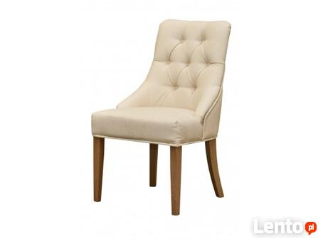Krzesło tapicerowane bez kołatki eleganckie pikowane