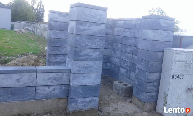 ogrodzenia murowanie z łupkow bloczkow klinkieru