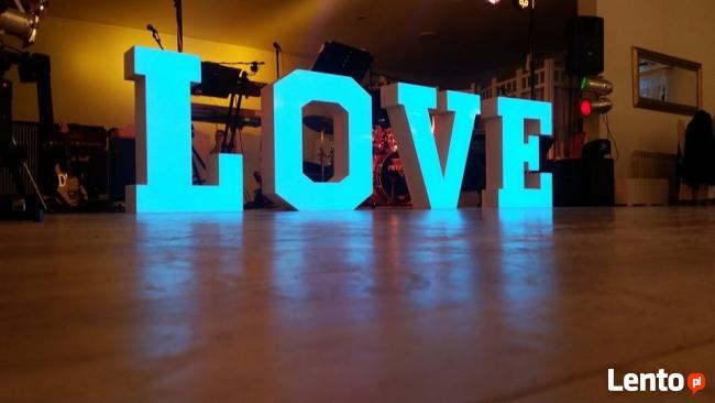 Love Litery Napis Led 3d Dekoracja Weselna Konin