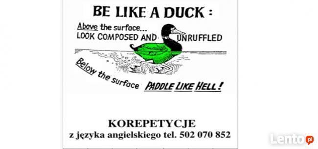BE LIKE A DUCK: Korepetycje z języka angielskiego