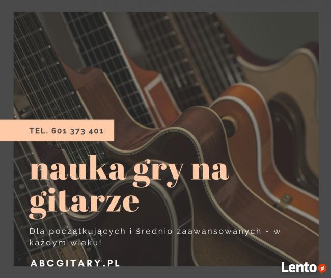 Nauka gry na gitarze Warszawa