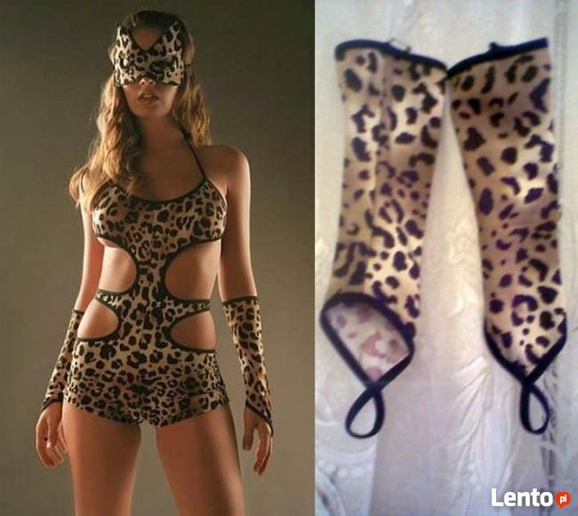 Drapieżna pantera -body + maska + rekawice