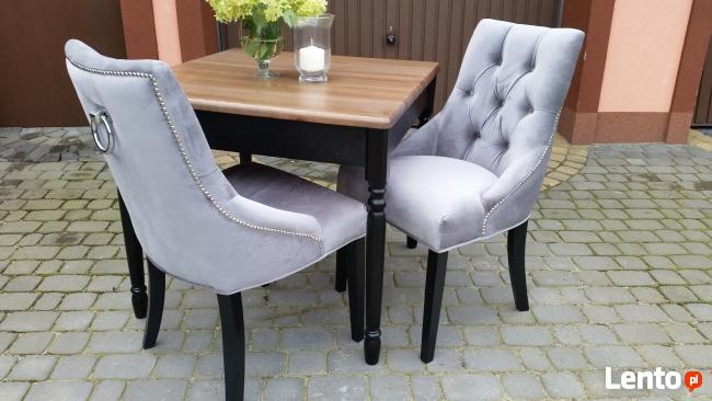 Aktualne Krzesło tapicerowane z kołatką pinezkami producent nowe Katowice RR92