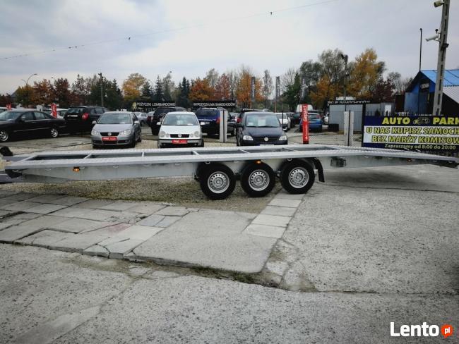 Przyczepa 3 osiowa do transportu 2 pojazdów o masie 3,5t