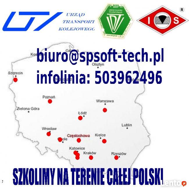 kurs UDT operatora podestów IP IIP, suwnic IIS IS, wózki