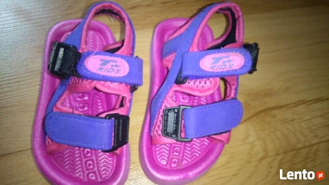 klapki sandały dziewczęce 22 wkładka 12,5 cm sandałki