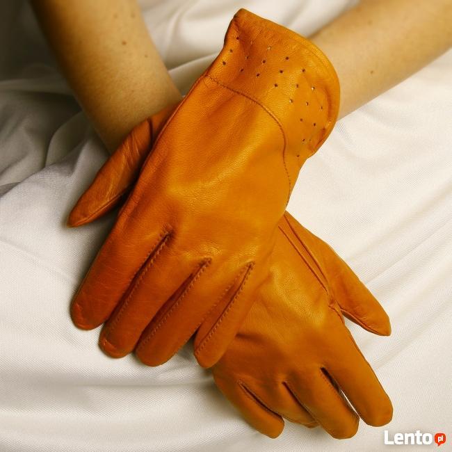 Rękawiczki damskie retro- skóra