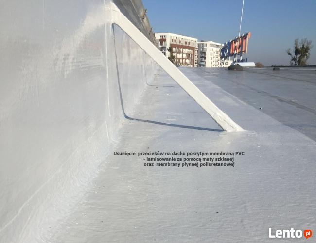 Uszczelnianie dachów z membran PVC - POLIMOCZNIKIEM