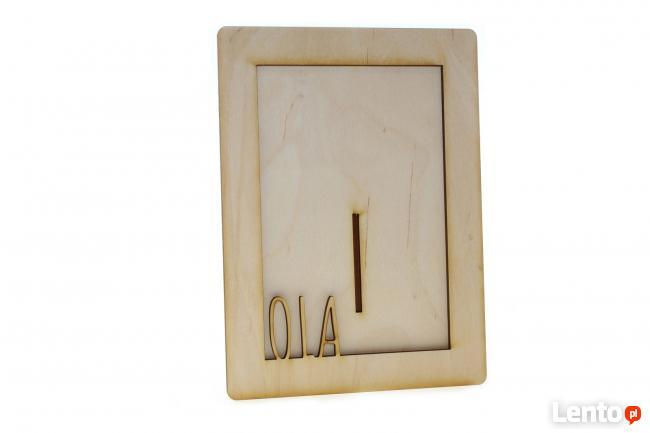 Drewniana ramka na zdjęcie z dowolnym IMIENIEM