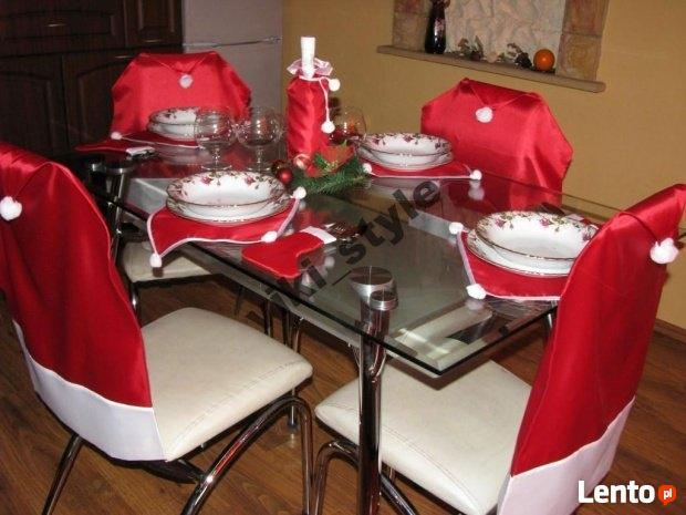 Mikołaj pokrowiec na krzesło, dekoracja świateczna