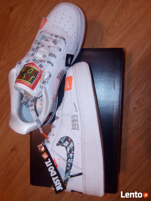 NIKE AIR FORCE 1 JDI PRM 35,5 fit r.36 JUST DO IT AO3977 100